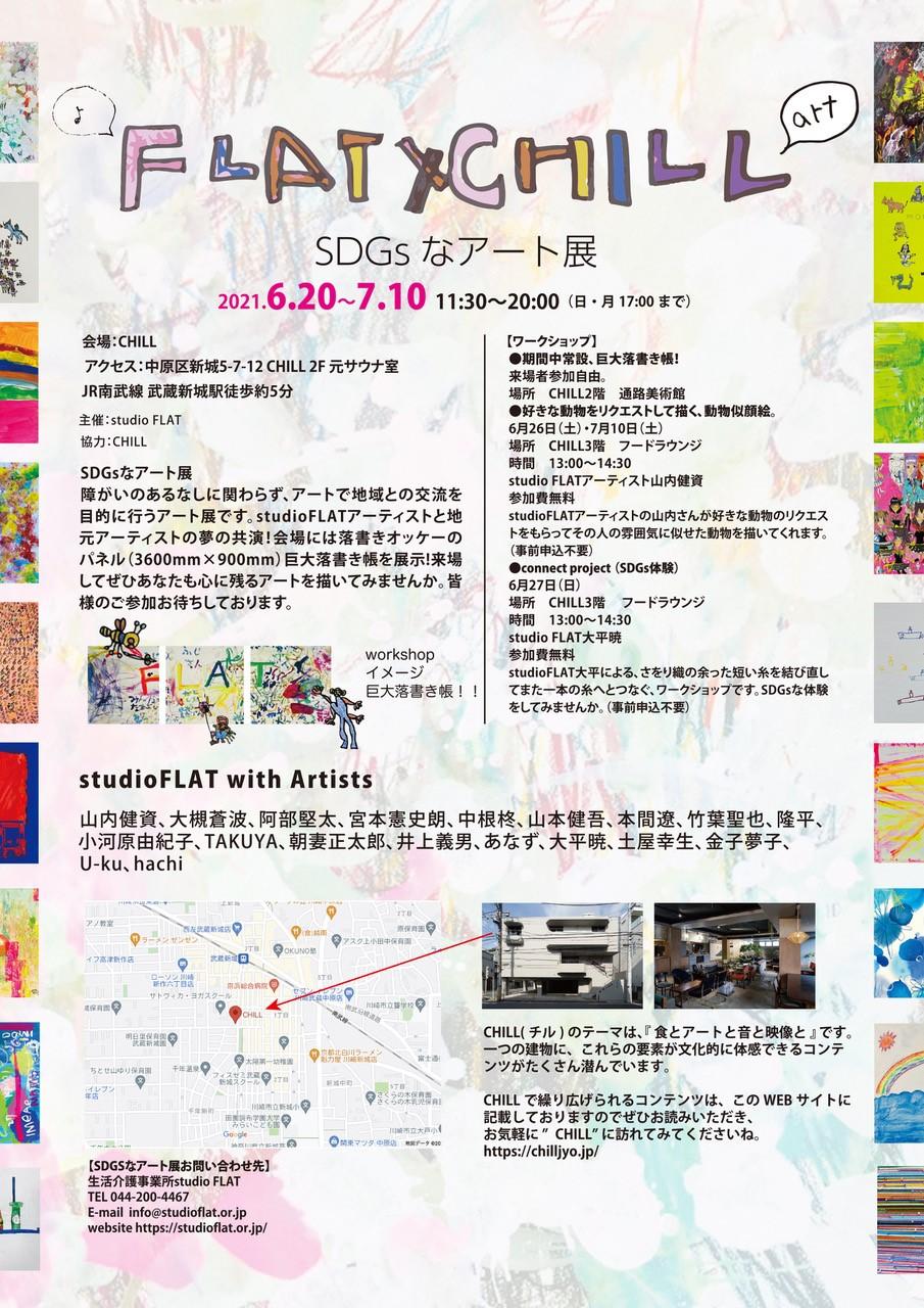 イメージ:FLAT×CHILL SDGsなアート展
